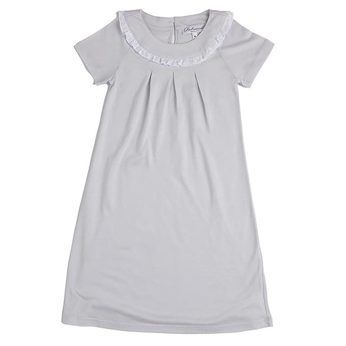 Siebaneck - Camisón - para niña gris gris perla: Amazon.es: Ropa y accesorios