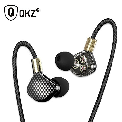 YRD Tech 2018 New QKZ KD6 in Ear Earphone with Microphone 6 Dynamic Driver Unit Headsets for Phone Mp3 Mp4 Players,Tablets PC, All 3.5mm Music Player (B) by YRD TECH