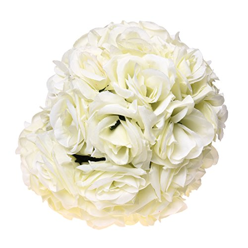 Flowers for wedding centerpieces amazon sodialr 820cmwedding decorations artificial rose silk flower ball centerpieces mint decorative hanging flower ball wine creamy white junglespirit Gallery