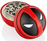 Deadpool Herb Grinder With Pollen Catcher, Perfect Size 2'', 3 Pieces Spice Grinder