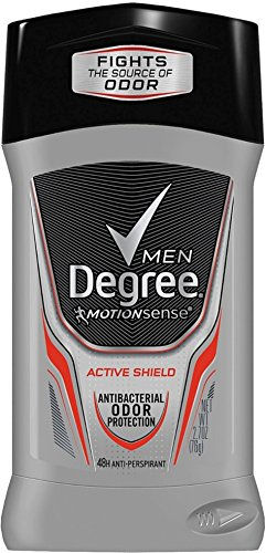 Active Ingredient Anti Perspirant (Degree Men MotionSense Invisible Solid Anti-perspirant, Active Shield 2.70 oz (Pack of 3))