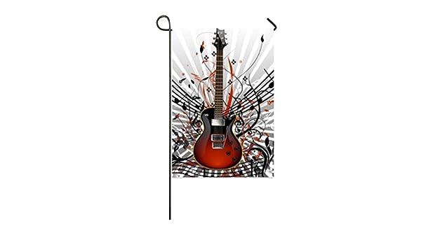 COL DOM - Bandera de Jardín con Diseño de Guitarra distintiva y ...