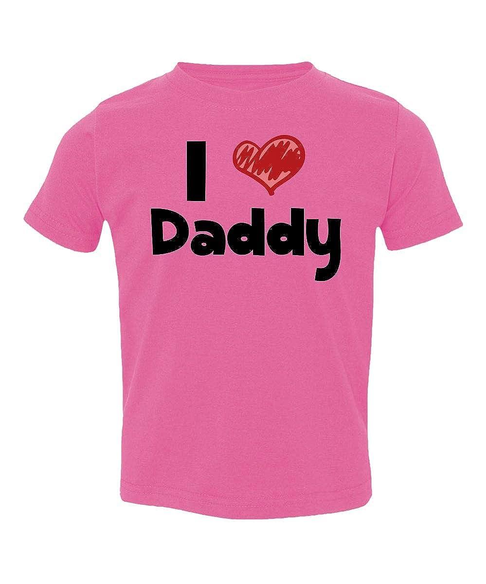 Societee I Love Daddy Adorable Heart Cute Little Kids Girls Boys Toddler T-Shirt