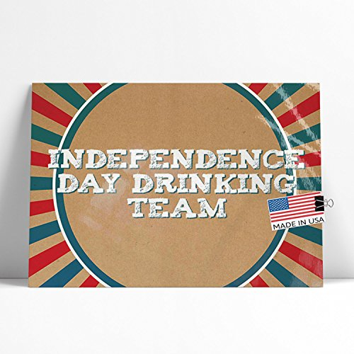 NEONBLOND Large Poster Independence Day Drinking Team Fourth of July Vintage Poster Design Printed in Atlanta by