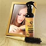 hair brush protector - Argan Oil Hair Protector Spray - 8 oz Thermal Heat Protectant Against Flat Iron - Sulfate Free & Natural Prevents Damage Dryness Breakage & Split Ends Premium Nature