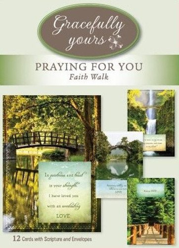 Gracefully Yours Praying for You - Faith Walk Greeting Cards featuring Heather Tocquigny, 12, 4 designs/3 each with Scripture Message