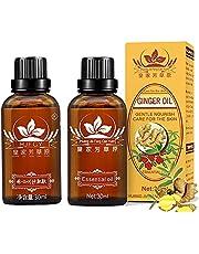 Lymfedrainage gemberolie, Gember etherische olie voor lymfedrainage, Zuivere natuurlijke etherische oliën voor massage, SPA massage oliën, verlichten spierpijn, lymfatische