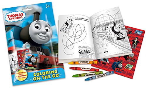 Price comparison product image Thomas & Friends On The Go Coloring Pouch Activity Set with Stickers, Crayons and Coloring Pages