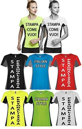 Diffusion Grigio tecnica Blu Bianco corte Generico Rosso Giallo Senza Maniche Fumo Style Nero Italian Reglan T marchio Fluorescente shirt Verde wS60IqU