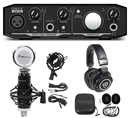 Mackie Onyx Artist 1.2 2x2 USB Recording Interface+Studio Mi