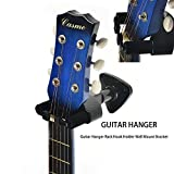Guitar Hanger, Professional Guitar Auto Lock Hook Holder Wall Mount Display, Easy to Install, Fits All Size Electric Guitar, Acoustic Bass Mandolin Banjo ukulele Product and Design by Phorcs