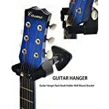 Guitar Hanger, Professional Guitar Hook Holder Wall Mount Display, Easy to Install, Fits All Size Electric Guitar, Acoustic Bass Mandolin Banjo ukulele Product and Design by Phorcs