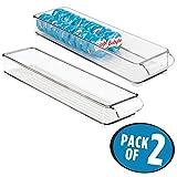 mDesign Refrigerator, Freezer, Pantry Cabinet Organizer Tray for...