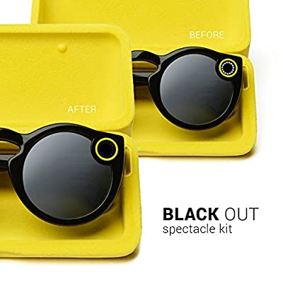 Black Out Kit for Snapchat Spectacles by Snap Hidden Camera Glasses