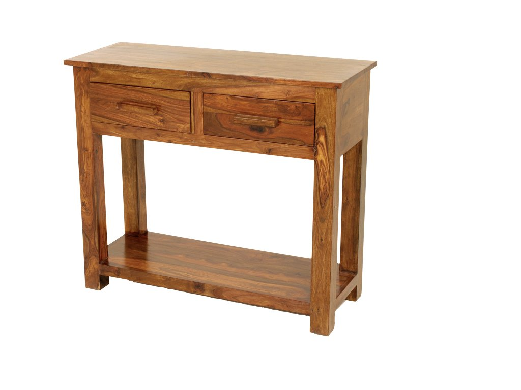 Cube sheesham console table hall table with 2 drawers finish cube sheesham console table hall table with 2 drawers finish mid brown sheesham hallway furniture amazon kitchen home geotapseo Image collections
