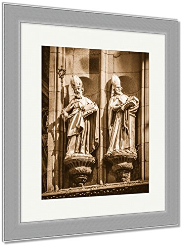 Ashley Framed Prints Toledo Famous City In Spain, Wall Art Home Decoration, Sepia, 35x30 (frame size), Silver Frame, AG6114676 by Ashley Framed Prints