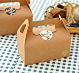 10X Kraft Paper Boxes Party Wedding Favour Box Biscuits Muffin Cake Boxes N@N