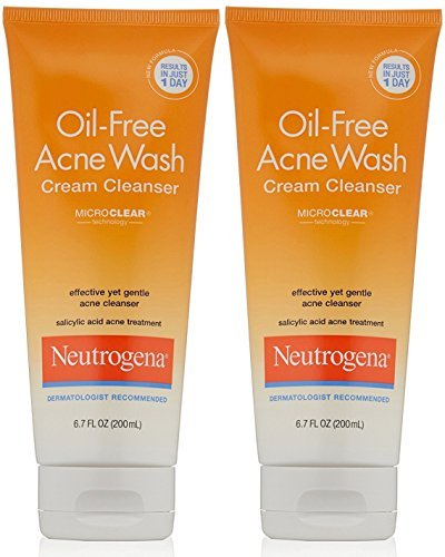 Neutrogena Oil-Free Acne Wash Cream Cleanser, 6.7 Fluid Ounce (Pack of ()