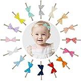 "Prohouse 16PCS 2.5"" Baby Nylon Headbands Hairbands Hair Bow Elastics for Baby Girls Newborn Infant Toddlers Kids"