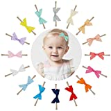 Prohouse 16PCS 2.5'' Baby Nylon Headbands Hairbands Hair Bow Elastics for Baby Girls Newborn Infant Toddlers Kids