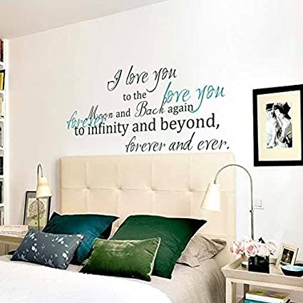 Amazon.com: Love you forever Vinyl Wall Decal Monogram Wall Quote ...