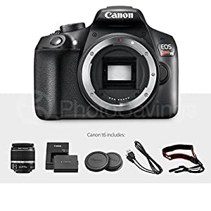 Canon EOS Rebel T6 DSLR Camera Bundle with EF-S 18-55mm f/3.5-5.6 IS II Lens, EF 75-300mm f/4-5.6 III Lens and Accessories (18 items) by Canon