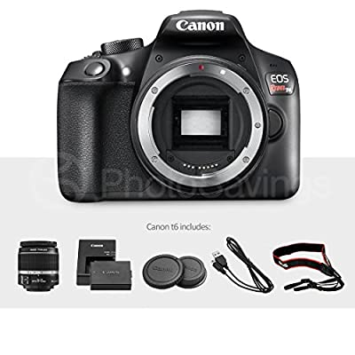 Canon EOS Rebel T6 DSLR Camera with EF-S 18-55mm f/3.5-5.6 is II Lens, Along with 32 & 16GB SDHC, and Deluxe Accessory Bundle with Xpix Cleaning Accessories by Canon