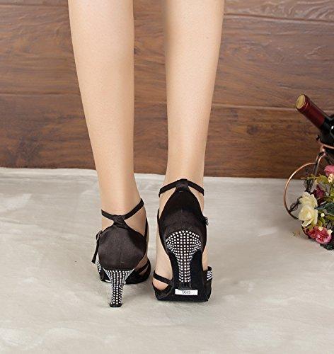 Minitoo ,  Damen Peep Toes , schwarz - schwarz - Größe: 36