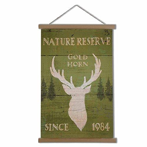 HANTAJANSS Scroll Painting Frame Vintage Wooden Poster Hanger for Home - Hanger Scroll
