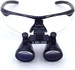 Zgood 3.5X 420mm Loupes Surgical Binocular Loupe Dental Magnifier (Black)