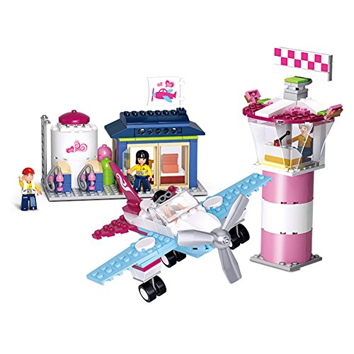 Sluban M38-B0608 Pink Dream Series Blocks Plane Bricks Toy – Fantasy (Fantasy Plane)