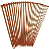 "12"" Inch Single Point Bamboo Knitting Needles Premium StitchBerry Brand Collection (15 Sets, US#0 2mm - US#15 10mm)"