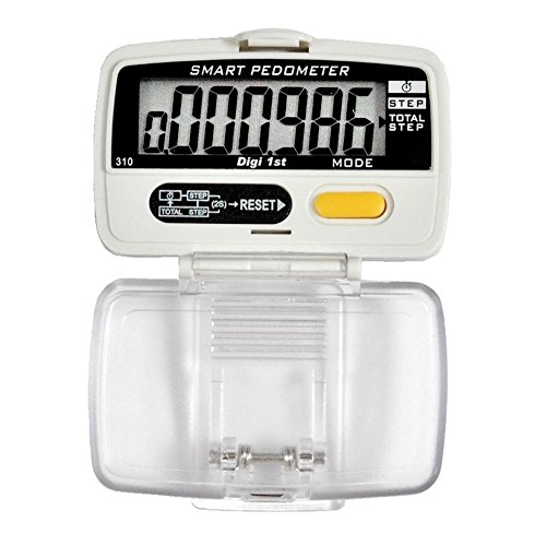 Digi 1st P-310 Dual Step Pedometer with Activity Time (Ultra Slim Case) (Compact Pedometer)
