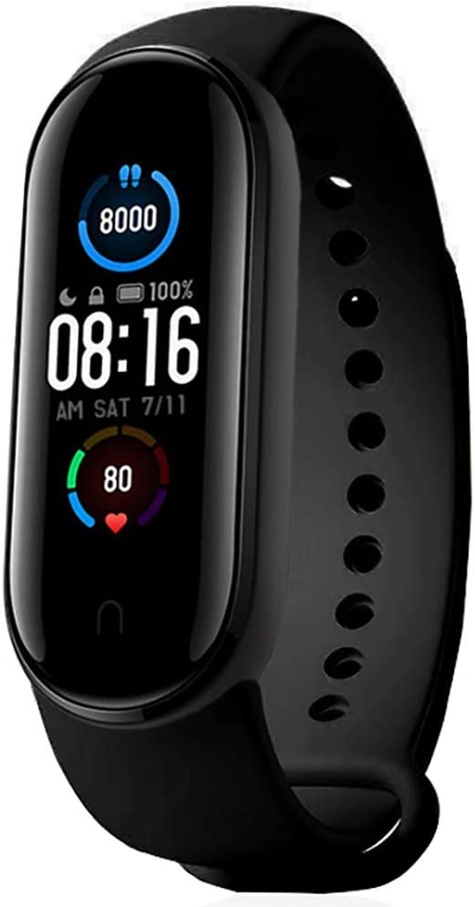 """dba XiaoMi Mi Band 5 Global Edition Smart Band Wrist Bracelet, with Magnetic Snap Charge, 1.1"""" AMOLED, 24Hr Heart Sleep REM Monitor, 11 Sports Modes, 50M Water Resistant"""