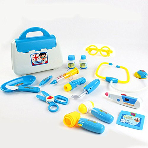 Lambie Classic Toddler Costumes (Blue Simulation Medical Kit Children Doctor Series Pretend Play Classic Toy Role Playmedical Educational Kids Toys Set)