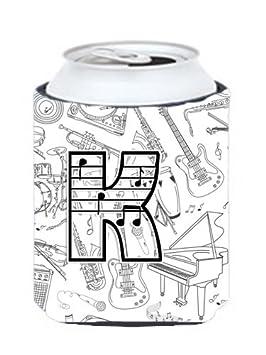Letra K notas musicales letras lata o botella Hugger CJ2007 ...