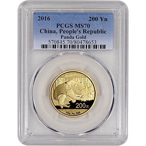 2016 CN China Gold Panda (15 g) 200 Yuan MS70 PCGS