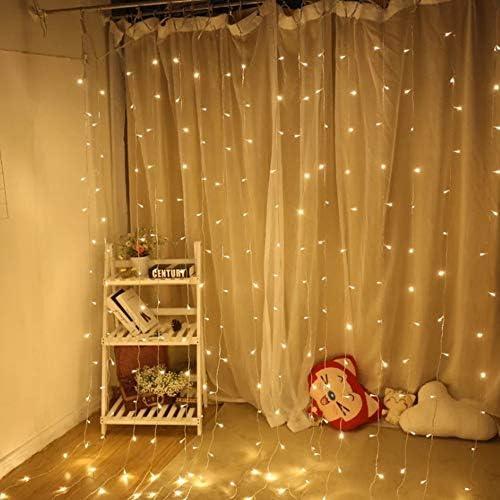 LED-Lichterketten,Wasserfall-Eiszapfen-Vorhang, feenhafter Lichtvorhang schlie?en an, feenhafte Lichtvorh?nge, für feenhafte Licht-Dekoration, 3 * 3m m für Hochzeitsfest-Vorhang