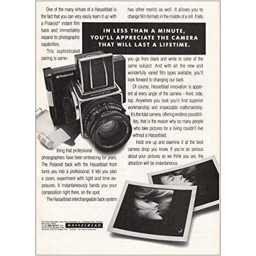 RelicPaper 1988 Hasselblad, Polaroid: In Less Than a Minute, Hasselblad Print Ad