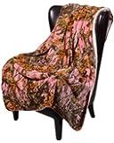 Regal Comfort Sherpa Luxury Throw Blanket, The Woods Camo, Pink