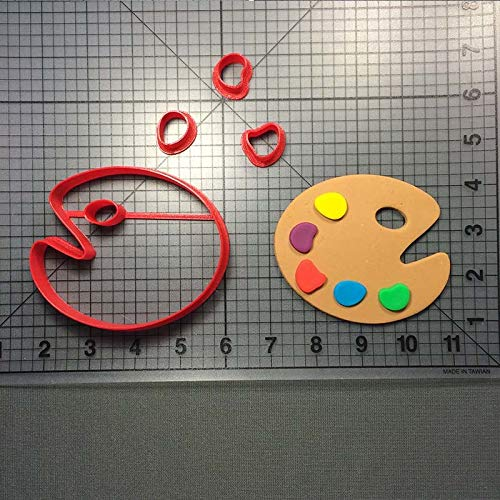 1 piece Paint Series Cookie Cutter Palette Easle Brush Baking Decorating Tools Custom 3D printed Cake Biscuits Stainless PLA Tools (Custom Printed Cookies)