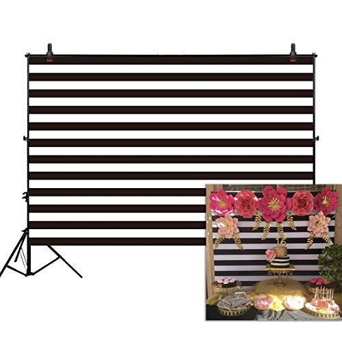 Allenjoy 7x5ft photography backdrops geometric Black and white stripe zebra crossing line banner Birthday party wedding decoration photo studio booth newborn baby shower background photocall -