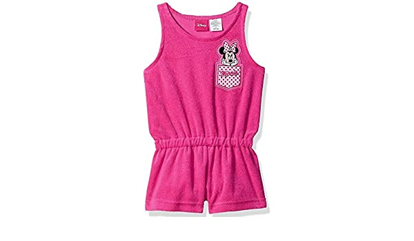 f509ffa8188a Amazon.com  Minnie Mouse Disney Toddler Girls Terry Romper t Cover up with UPF  50+UV Protection Hot Pink  Clothing
