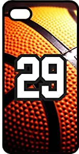 Basketball Sports Fan Player Number 29 Smoke Rubber Decorative iPhone 4/4s Case