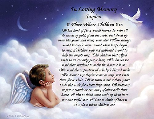 Amazon.com: In Loving Memory: Boy Angel A Cherished Personalized ...