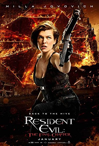 Resident Evil  The Final Chapter Movie Poster 11 X 17 Ruby Rose  Milla Jovovich  K  Made In The U S A