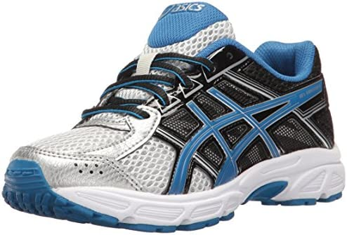ASICS Boys' Gel-Contend 4 GS Running Shoe, Silver/Classic Blue ...