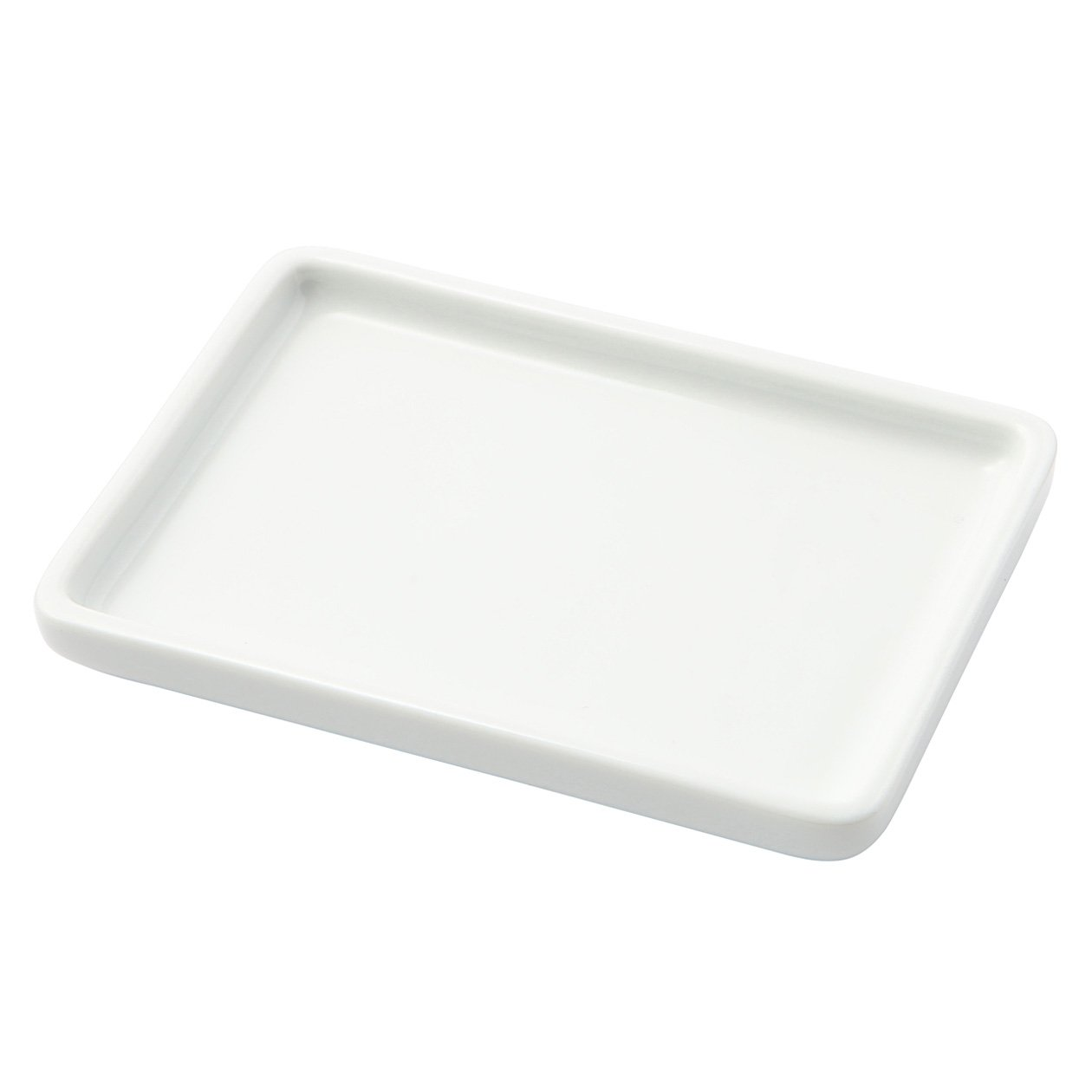 Amazon.com: MUJI Stainless Soap Dish and White Porcelain Tray ...