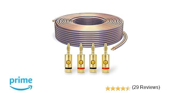 PureLink SP010-010 Cable de altavoz 2 x 2.5mm² (99.9% OFC cable de ...
