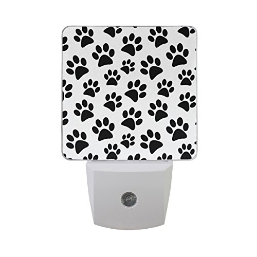 JOYPRINT Led Night Light Animal Dog Cat Paw Print Pattern, Auto Senor Dusk to Dawn Night Light Plug in for Kids Baby Girls Boys Adults Room by JOYPRINT